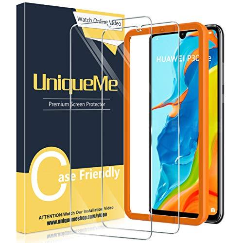 UniqueMe [2 Pack] Protector de Pantalla Compatible con Huawei P30 Lite, Vidrio Templado [9H Dureza] HD Film Cristal Templado