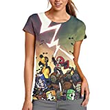 Castle_Crashers_Characters 3D Fashion Women's T Shirt Short Sleeve Round Collar Tops Girls Tee Shirts White