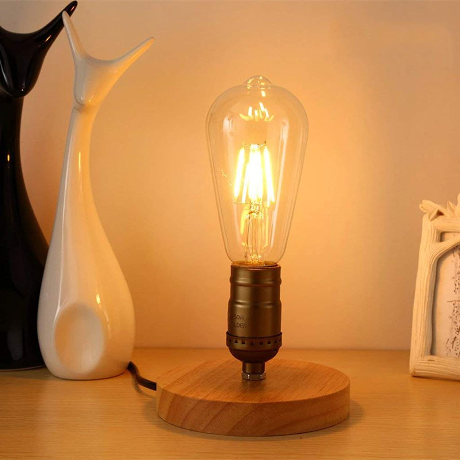WHKFD Wet Light Edison Industrial Vintage Style, Creative Light Cafe Personality, H10Cm  W12Cm (Version  F)