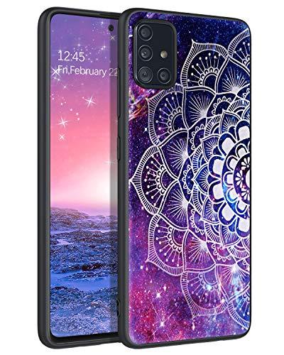 YINLAI Samsung Galaxy A51 Hülle, Samsung A51 Handyhülle Lila Mandala Nebula Muster mit Solider PC Schale & flexibeler TPU Cover stoßfest Kratzfest dünne Stylische Schutzhülle für Samsung Galaxy A51