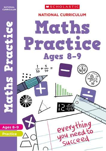 Maths practice book for ages 8-9 (Year 4). Perfect for Home Learning. (100...