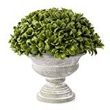 Louiesya Artificial Plant Topiary Ball Boxwood Ball with Grecian Urn Planter for Front Patio,Garden, Home and Wedding Decor