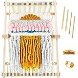 Myriad Choices Webrahmen aus Holz Webstuhl Keine Webmaschine für Anfänger und Kinder um Schals und Dekorationen zu Machen(50 x 40 cm)