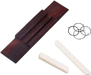 Ukulele String Black Set/Nut and Saddle/Bridge Rosewood suit for Ukulele Replacement Part