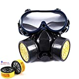 Breathing Mask Type Gas Mask Double Tube Activated Carbon Gas Mask Eye Mask Masks & Security & Protection for Masks