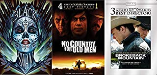 Eye Opening Critically Acclaimed Modern Dramas Classics: 3 DVD Feature Film Bundle: Black Swan & No Country For Old Men & Brokeback Mountain 3-Hollywood Blockbuster DVD Bundle