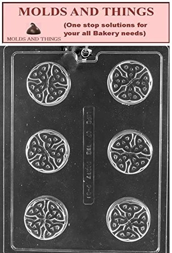 Celtic Cookie Chocolate candy mold With Copywrited Candy Making Instruction