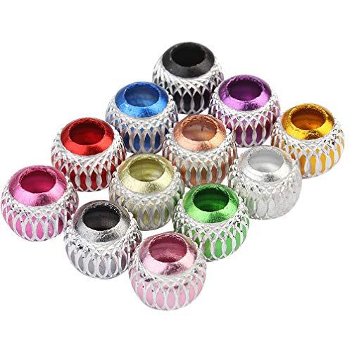 Exceart 30 Stuks Groot Gat Kralen Aluminium Losse Spacer Kralen Bedelarmband Spacer Voor Het Maken Van Sieraden Ketting Armband Accessoires Kleurrijk