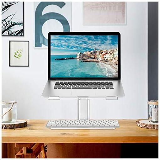 BoYata Soporte para portátil ventilado de altura ajustable, soporte para portátil compatible con MacBook Pro / Air de 10… 7