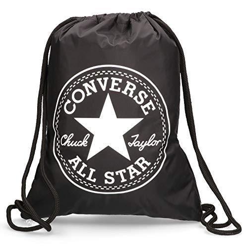 Converse Flash Gymsack Unisex Erwachsene, Schwarz, 14 l