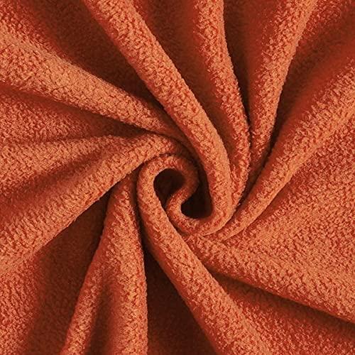 Antipilling Fleece – terracotta — Meterware ab 0,5m — zum Nähen von Tagesdecken, Decken & Homeaccessoires