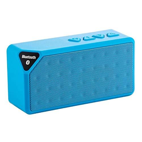 qiyan Altavoz Bluetooth para Exteriores Caja de Sonido de música inalámbrica portátil Subwoofer Soporte para Manos Libres TF Aux FM Radio Nuevo Lordzmix-in Altavoces portátiles Azules