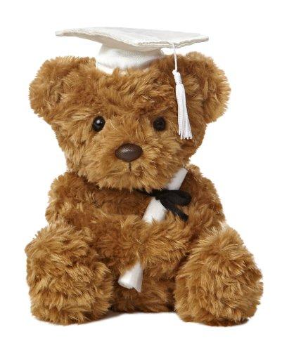 Aurora World Graduation - 8.5' Wagner Bear Graduation - White Cap