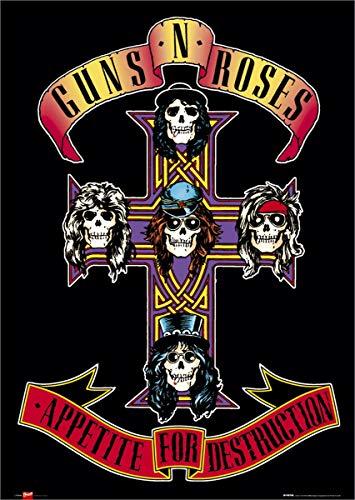 Guns N Roses Appetite Unisex Poster Multicolor Papier 61 x 91,5 cm Band-Merch, Bands