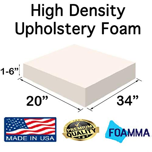Review FOAMMA 2 x 20 x 34 Upholstery Foam High Density Foam (Chair Cushion Square Foam for Dinnin...