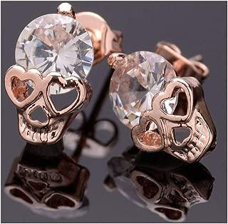 Crystal Skull Stud Earrings for Women Punk Fashion Earrings Jewelry
