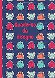 Quaderno da disegno: Libro da disegno per bambini   A4 100 pagine   piccoli mostri