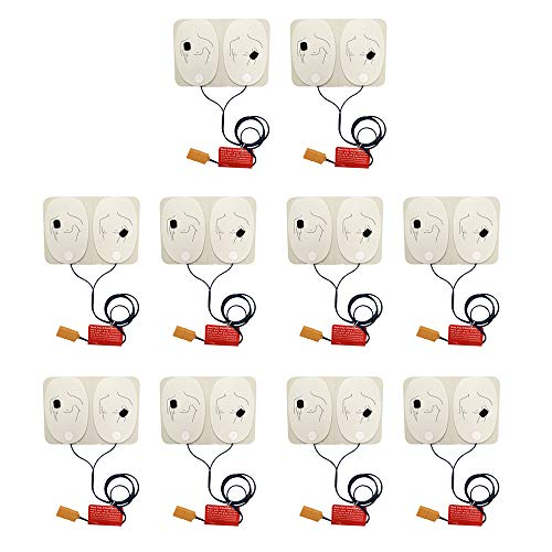 Pelvifine Training Electrode Pads for AED Trainer Adult Training Replacement Pads for AED Trainer, 10 Pairs,with Pins