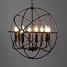 "Industrial Vintage Retro Pendant Light - MAYERHK 21"" Edison Metal Globe Shade Hanging Ceiling Light Chandelier Pendant Lam..."