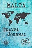 Malta Travel Journal: Notebook dotted 120 Pages 6x9 Inches - Vacation Trip Planner Travel Diary Farewell Gift Holiday Planner