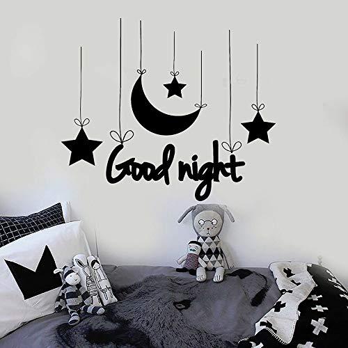 Sanzangtang muurstickers van vinyl goede nachtrust slaapkamer muur kunst maan en ster kinderen slaapkamer stickers voor school kinderdagverblijf decoratie