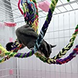 <span class='highlight'><span class='highlight'>VANKOA</span></span> 4 Pcs Climbing Rope Cotton Rope for Small Pets, Hanging Hammock for Cage, Activity & Climbing Toy, Net Pet Bed for Hamsters,Rat Mice, Cockatiel