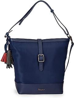 Pepe Jeans ANN Bolso Shopper Azul 28x32x14 cms Poliéster