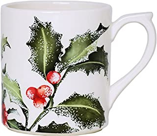 Gien dinnerware france Holly Christmas Mug 10 oz, 3.75