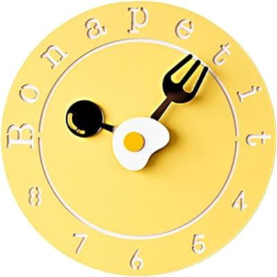 Crazy ogdre Reloj De Pared Creativo Personalidad Reloj Dormitorio Mudo Niños De Dibujos Animados Lindo Hogar