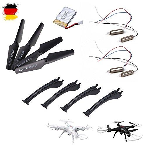 HSP Himoto Original Ersatzteile-Set für RC Quadcopter x5sc und x5sw, Rotorblätter, Akku, Motor-Set, Landefüße, Drohne, Hubschrauber, Neu