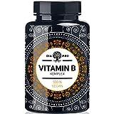 DiaPro Vitamin B Komplex PREMIUM 200 vegane Kapseln hochdosiert mit 500 µg Vitamin B12 pro Tagesdosis insgesamt 8 B-Vitaminen