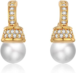 Italina Stud Earrings Cubic Zirconia Jewelry Earrings for Women Girls Fashion Jewelry Rhodium/Gold/Rosegold Plating