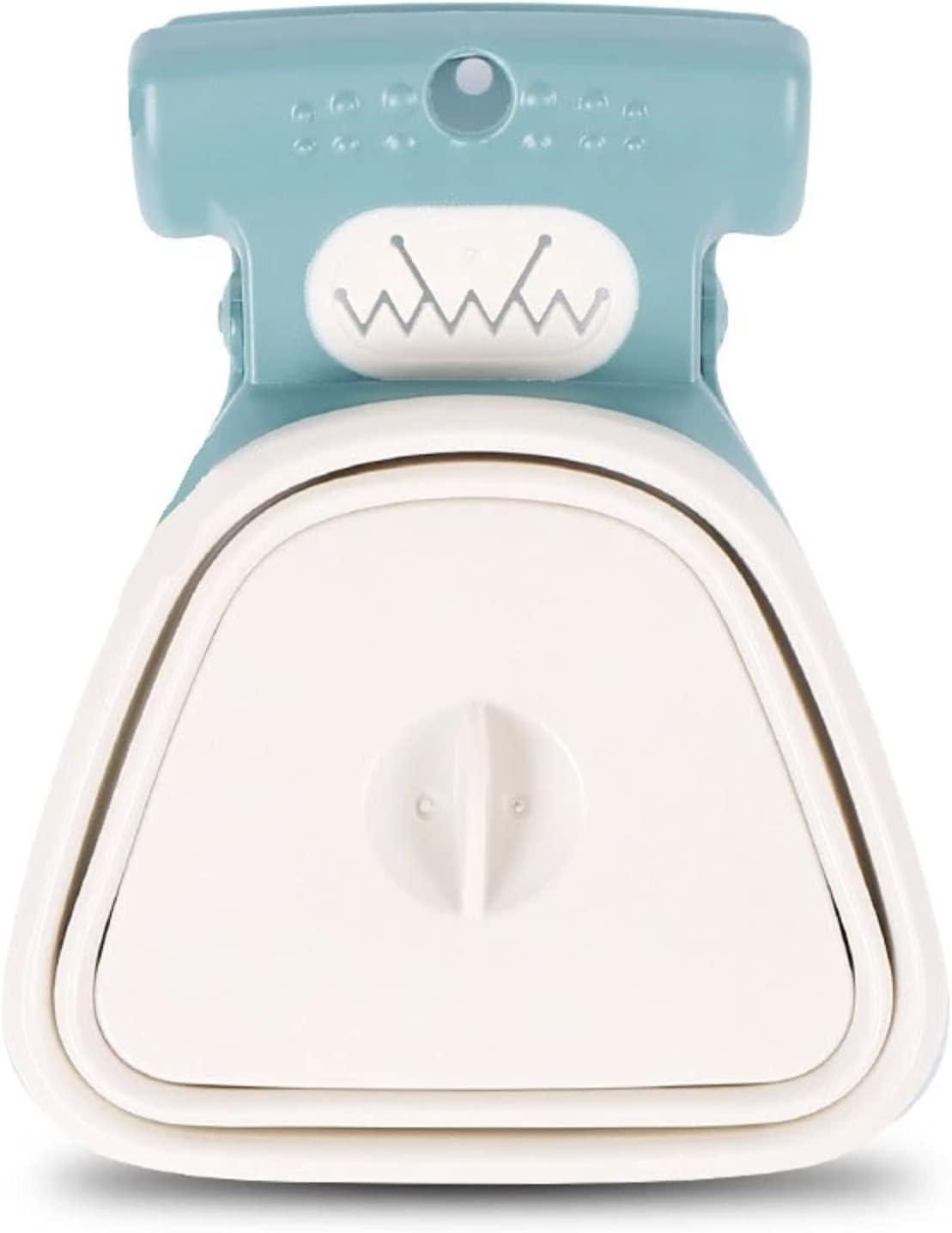 Crea EOLO- EOLO Plus - Pinza recogeexcrementos portátil y práctica para perros, para salidas y viajes, disponible en dos tamaños (L, verde y blanco)