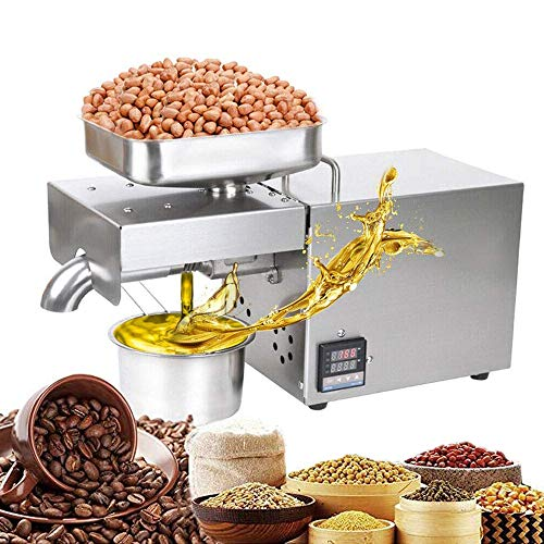 Review Of EZYOU Automatic Nut Seeds Olive Oil Press Machine 0-300 Celsius Temp Control Hot Cold Auto...