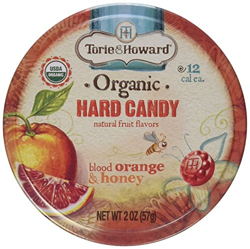 Torie and Howard Organic Bloody Orange and Honey Candy 2 Ounce  8 per case