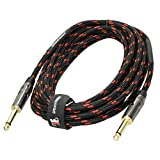 Speakfriends Guitar Cables 20 ft,(1/4 Straight-to-Straight) Instrument Cable for Electric Guitar, bass Guitar, Electric Mandolin