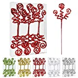ZHANYIGY 6PC Set Red Christmas Tree DecorationSequins Candy Shape Curly Pick, Christmas Tree Decorations Home Office Party DecorationsGifts