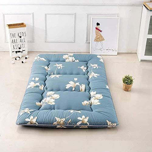 Doppelte Einstöckige Matratze Japanischer Student Schlafsaal Klappmatratze Futon Bodenmatratze Tragbare Camping Matratze Kissen Für Kinder Bett Kinderbett Bett Kinderbett, Dicke: 10 Cm,A-100x200 Cm