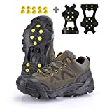 XZSUN Ice cleats,Snow Ice Traction Shoe Boot Cleats, Anti Slip 10-Studs TPE Rubber Crampons with 10 Extra Studs for Footwear(Sizes: S/M/L/XL ) (Large(EU:40-43))