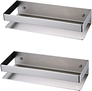 KES Bathroom Shelf Stainless Steel Bath Shower Shelf Basket Caddy RUSTPROOF Square Modern Style Wall Mounted Brushed Finish 2 PCS, BSC205S30A-2-P2