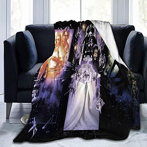 Star War Fre&schafts-Überwurfdecke, ultraweiche Tagesdecke aus Mikrofaser, Fleece, langlebig, Heimdekoration, ideal für Couch, Sofa, Bett, klein für Kinder