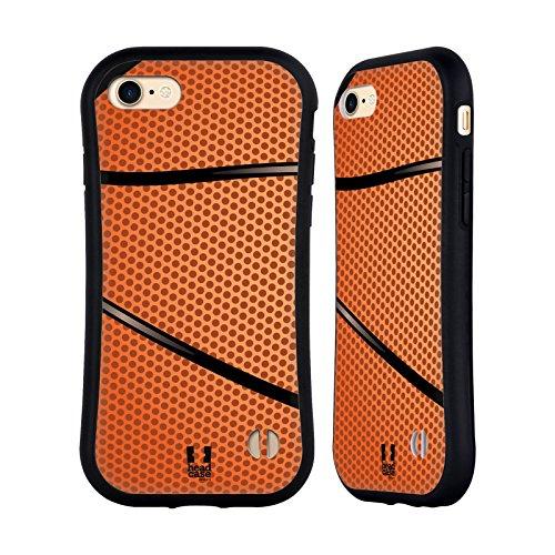 Head Case Designs Baloncesto Colección de Bolas Carcasa híbrida Compatible con Apple iPhone 7 / iPhone 8 / iPhone SE 2020