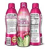 Maxx Herb Organic Nopal Cactus Juice (32 oz), Prickly Pear Cactus Juice – Antioxidant Super-Fruit,...