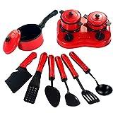 NUOBESTY 11pcs los niños Juguetes de simulación de Cocina casa de Juegos de Cocina para cocinar pretenden Utensilios de Juego de rol