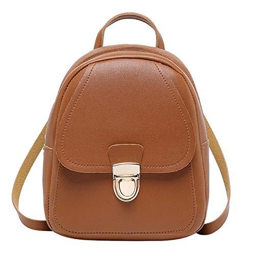 JNML Mini-rugzak Schooltassen voor tienermeisjes Rugzak Leuke kleine vrouwelijke rugzak Dames Leren rugzak Mode, bruin