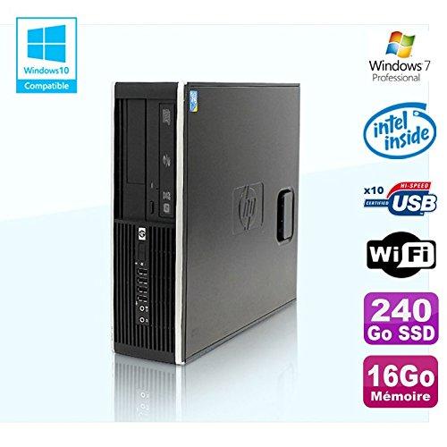 HP PC Compaq Elite 8100 SFF G6950 2,8 GHZ 16 GB 240Go SSD WiFi Gravierer W7 Profi