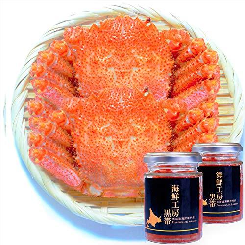 【Amazon.co.jp限定】 黒帯 海鮮セット 毛がに 500gx2ハイ / いくら醤油漬け 100gx2瓶 北海道 ギフト