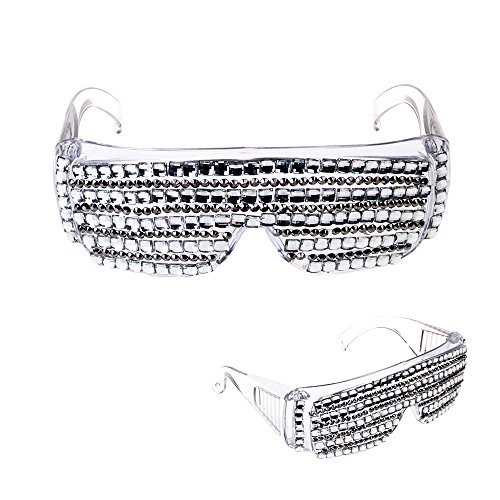 PARTY DISCOUNT Brille Proll mit Glitzersteinen