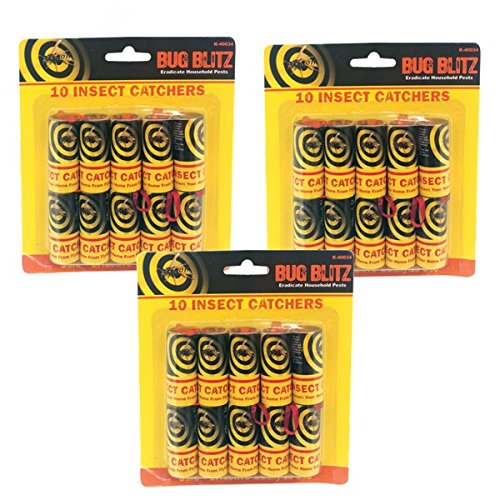 30 x Sticky Fly Bug Wasp Poison gratuit papiers d'insectes Piège à anti-gouttes pièges