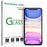 """amFilm Screen Protector Glass for iPhone 11 / iPhone XR (6.1"""" display) (3 Pack) With Easy Installation Tray"""